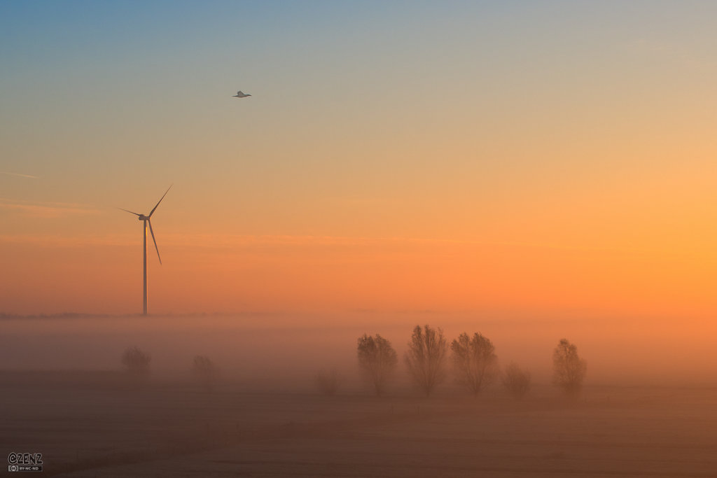Sunrise over Houten